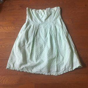 Strapless Mint Babydoll Dress